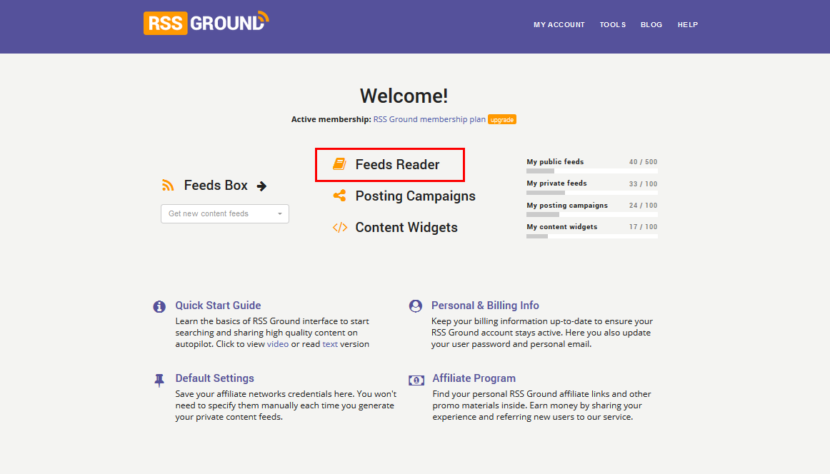 RSS Ground Feeds Reader